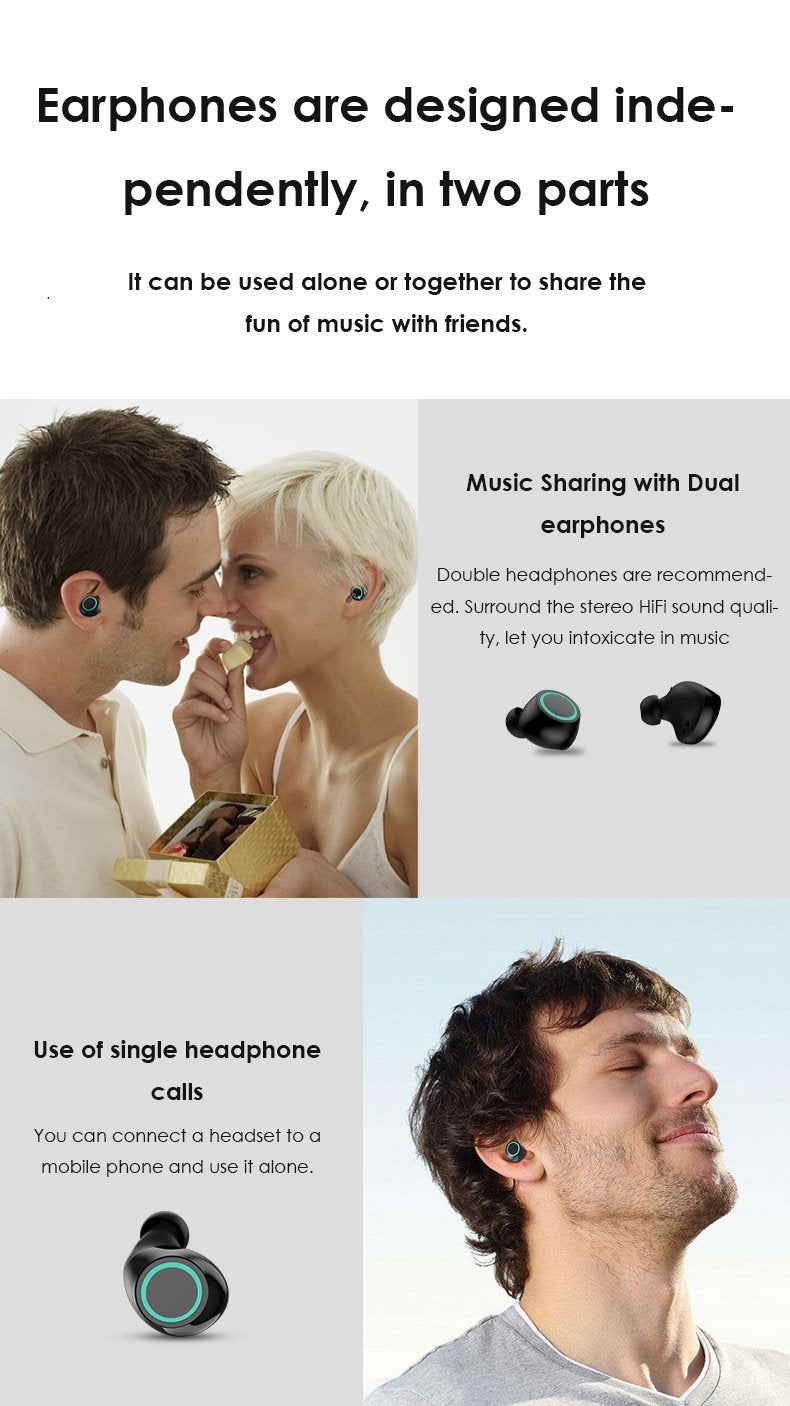 Kungfu Dragon Waterproof Bluetooth Earphone TWS T6