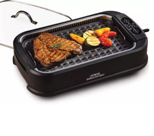 Smokeless Grill with Tempered Glass