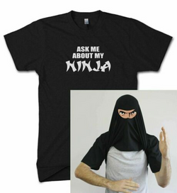 Ask Me About My Ninja Disguise Flip T-Shirt for Men/Women