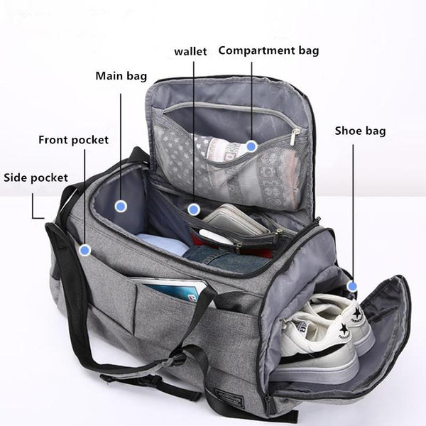 Dry and wet separation swimming fitness bag multi function large capacity training yoga bag carrying luggage bag travel bag CF-1789,1698,1816,8812