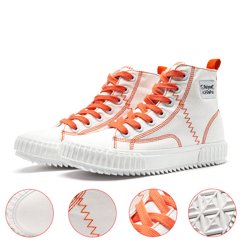 Feiyue Canvas Shoes 858 High-top Woman Shoes Casual Sneaker Street Flats Autumn Winter 3 Colors Comfortable Fashion Man Shoes