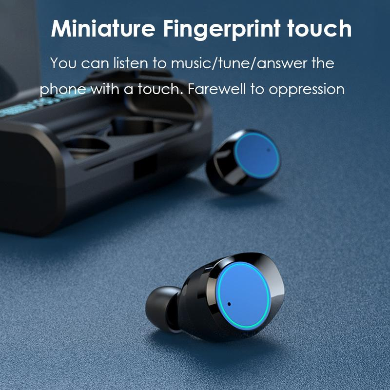 Explosive TWS Bluetooth Headset 5.0 Wireless Mini G06 Movement Input Noise Reduction and Waterproof Earplug Cold Light Digital Display
