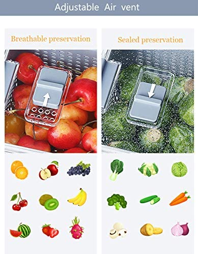 Mrt Pro Refrigerator Organizer Bins - Fridge Storage Containers - Fresh Produce Vegetable Fruit Storage Containers - Food Storage Containers - Produce saver storage containers set(3 pack)