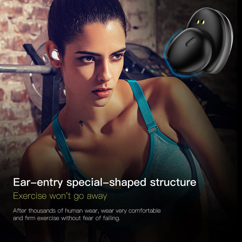 New SE9 Smart Wireless Bluetooth Headset 5.0 Half-in Ear-to-ear Invisible Mini True Stereo Earphone
