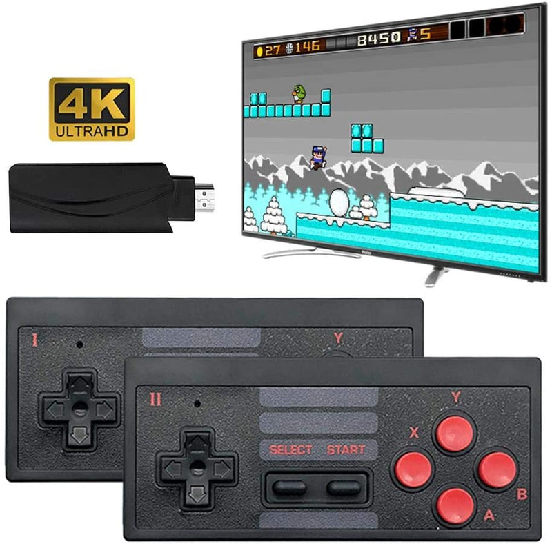 4K Wireless Game Console, Mini Retro Controller HDMI Output Dual Handle, Mini Arcade Game Machine, Built in 628 Classic Game