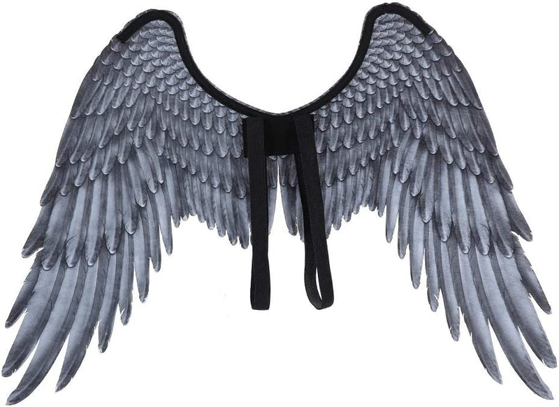 Himine Festive Party Angel Wings Suitable for Child Decorative Wings (Black)