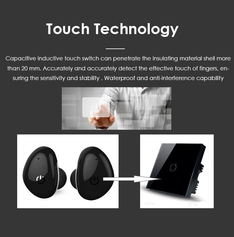 Kungfu Dragon i8S Wireless Touch Bluetooth Headset