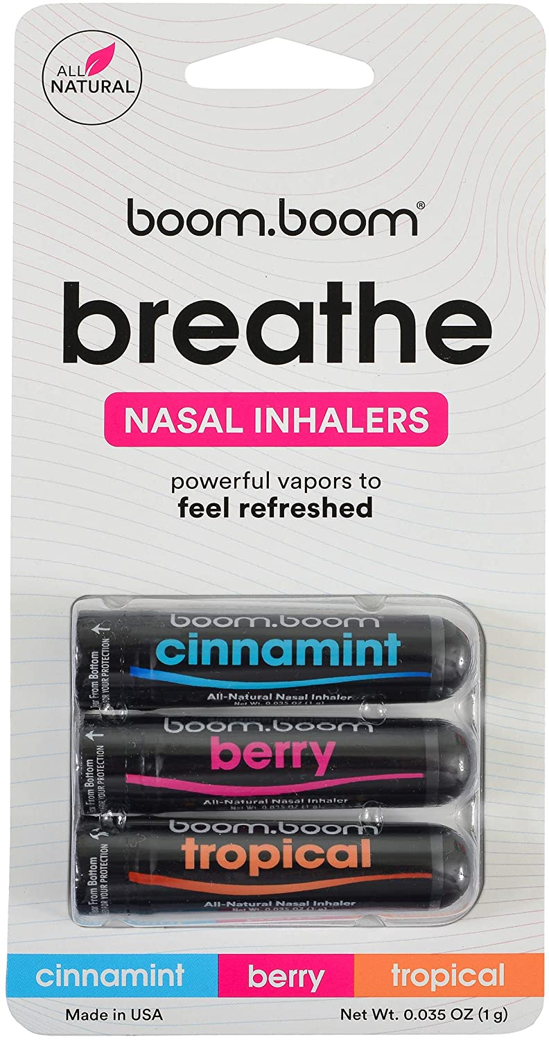 AROMATHERAPY NASAL INHALER ENHANCES BREATHING + BOOSTS FOCUS