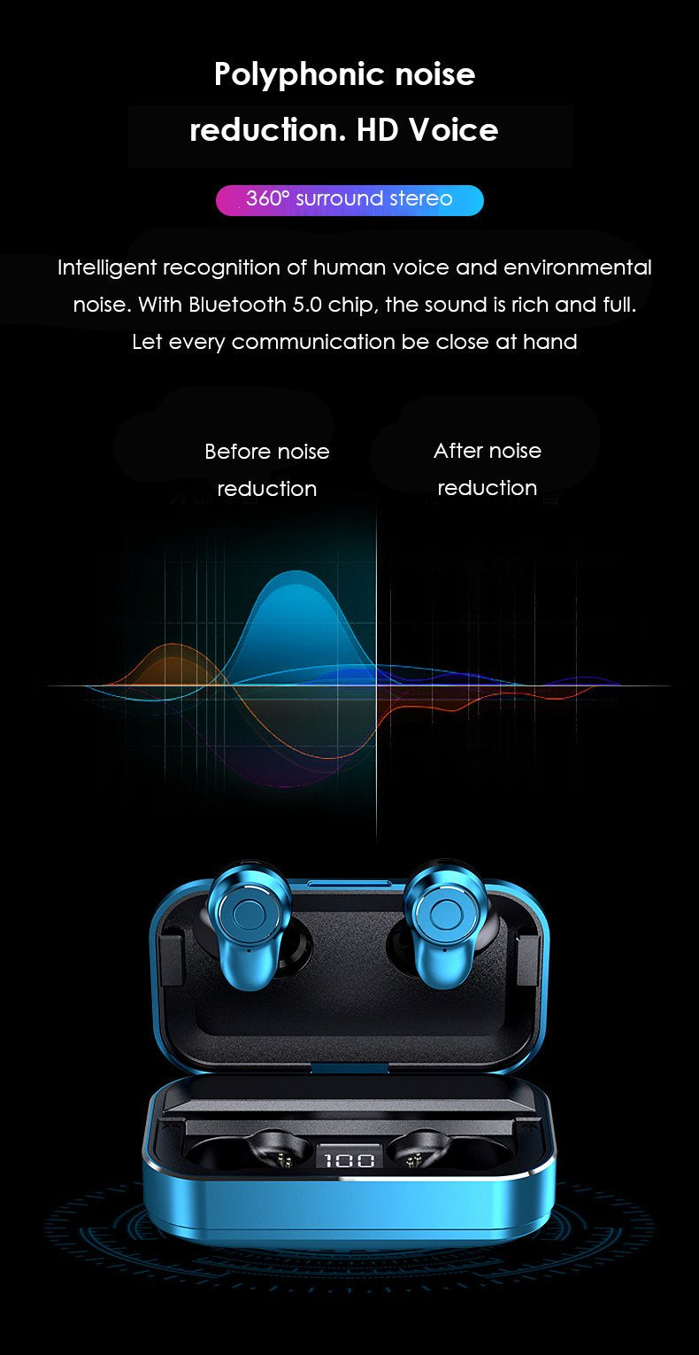 MY-02 Bluetooth Headset Wireless 5.0 Single Ear and Two Ear Sports Mini-Private Model Ts Wireless Bluetooth Headset Patent New