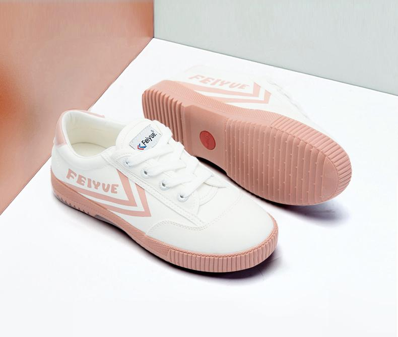 Feiyue girl's heart series canvas shoes Street Photo candy color small white shoes women's shoes casual shoes 8182