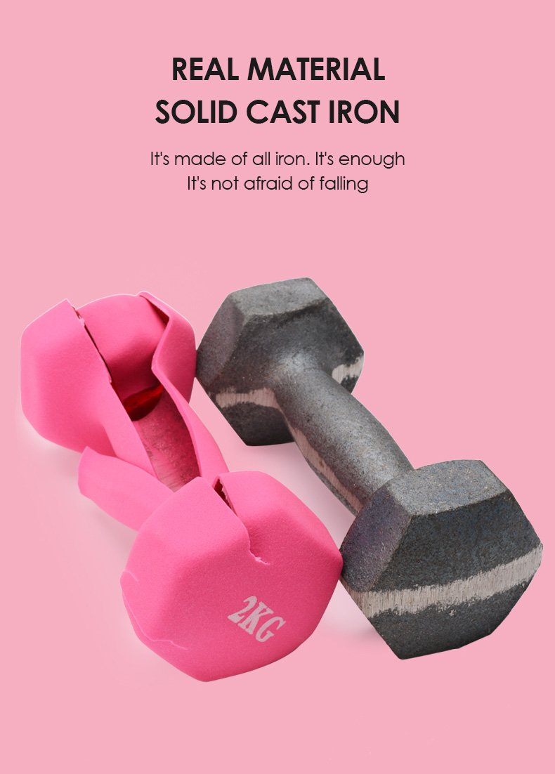 Small dumbbell woman household lose weight fitness  140005