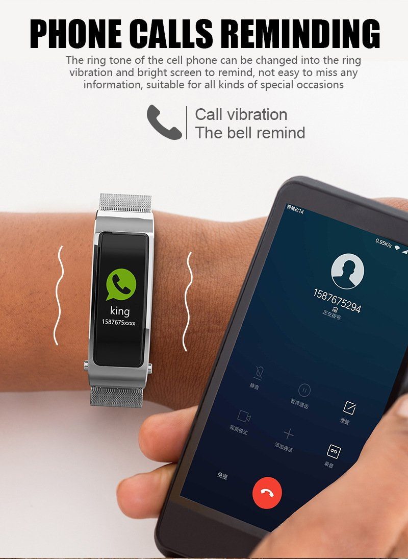 Y5 smart bracelet Smart Talk Band Bluetooth Headphone watch