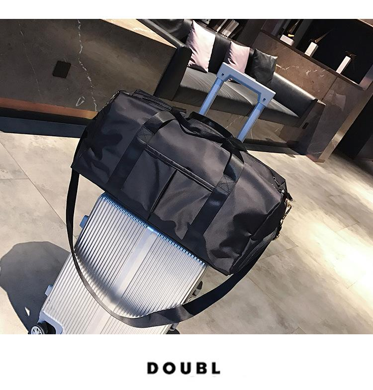 Dry and wet separation exercise women's Yoga Fitness bag large capacity travel bag sports training 1708