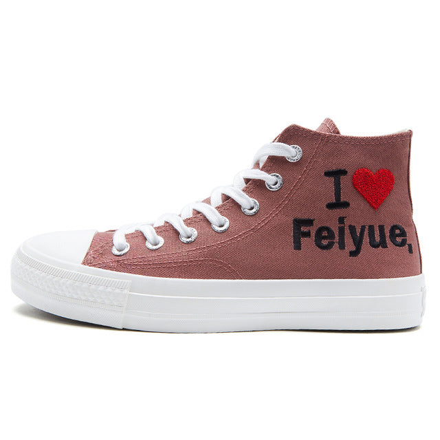 Feiyue High-top Canvas Shoes 2126 Black Flats Shoes Women Men Casual Vulcanized Shoes Spring Autumn New Lovers Comfortable Flats