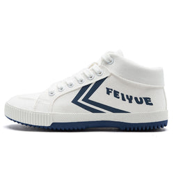 Feiyue High-top Casual Canvas Shoes 8103 Fashion Flats Vulcanized Shoes Women Men 3 Colors Elastic Insole Autumn Winter Flats