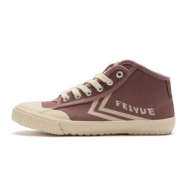 Feiyue Newest 2168 High-top Canvas Shoes Flat Men Women Shoes Vulcanized Sneakers Breathable Non-slip Sneakers