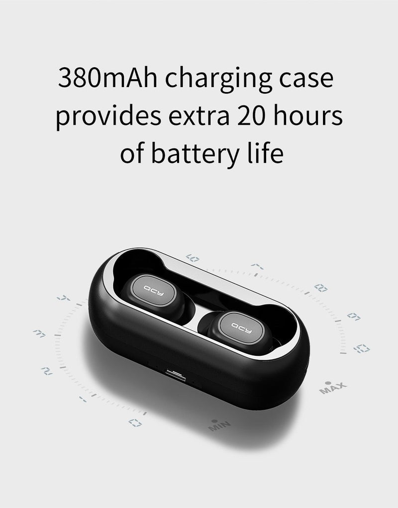 Mini Dual V5.0 Wireless Earphones Bluetooth Earphones 3D Stereo Sound Earbuds with Dual Microphone and Charging box