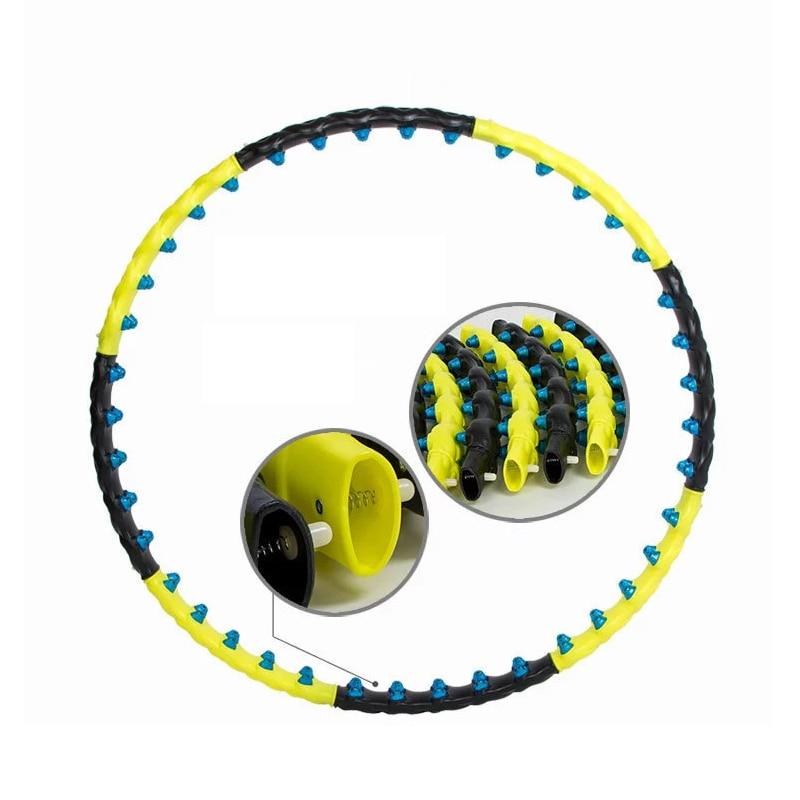 Detachable 7/8 Parts Double Row Magnetic Fitness Hoop