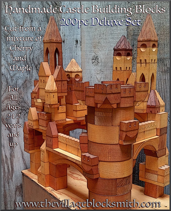 200 Piece Deluxe Castle Building Block Set