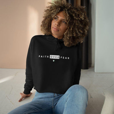 Faith Over Fear Cropped Hoodie for Women - Felure