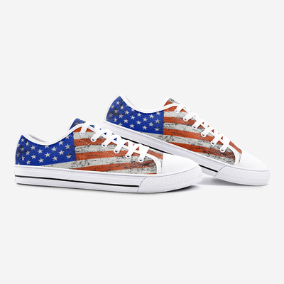 American Flag Unisex Low Top Shoes - Felure