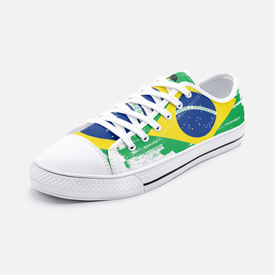 Brazilian Flag Unisex Low Top Shoes - Felure
