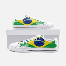Load image into Gallery viewer, Brazilian Flag Unisex Low Top Shoes - Felure