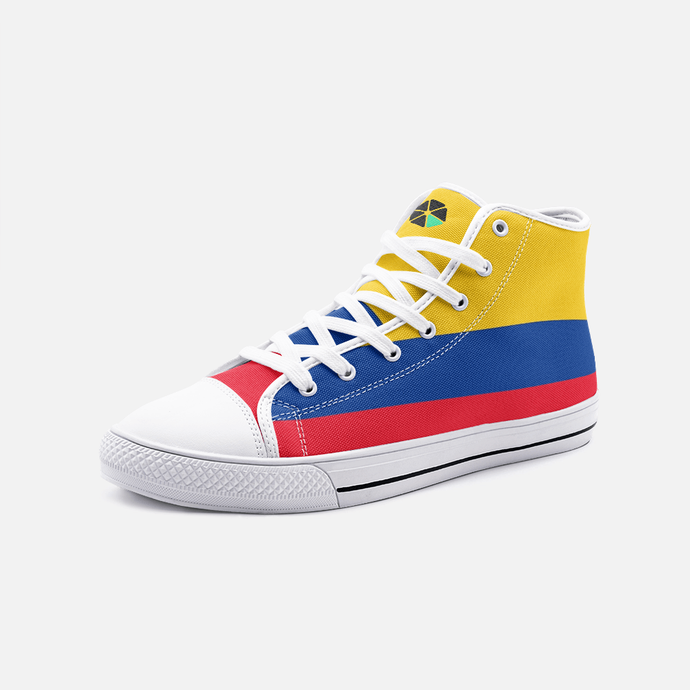 Colombia Flag Unisex High Top Shoes - Felure