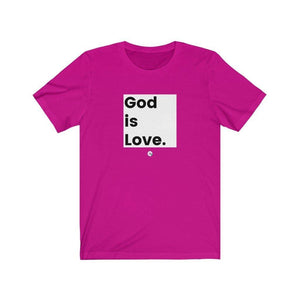 God is Love Christian T Shirt Unisex Jersey - Felure