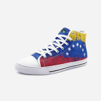 Venezuela Flag Splash Unisex High Top Shoes - Felure