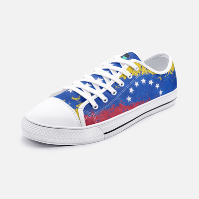 Venezuela Flag Splash Unisex Low Top Shoes - Felure
