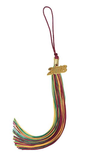 Graduation Tassel Three Colors with Gold/Silver Year Charm