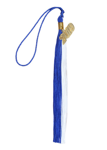 Graduation Tassel Double Colors with Gold/Silver Year Charm
