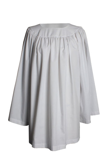 Kindergarten Round Neck Clergy Surplice White