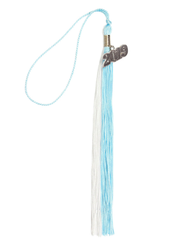 Graduation Double Color Tassel with Silver or Gold 2019 Year Charm