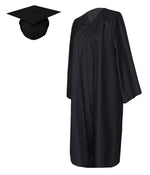 Graduation Matte Gown with Cap Costume Unisex