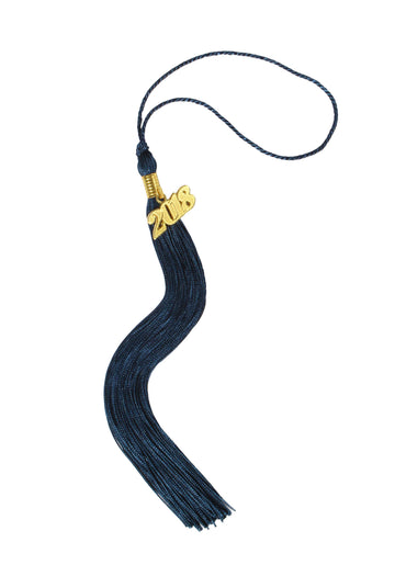 Graduation Tassel Single Color with Gold/Silver Year Charm