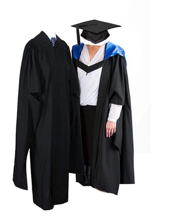 Unisex UK Master Graduation Gown with Hood