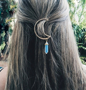 Moon Crystal Hair Ornament