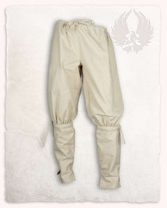 Linen Coloured Canvas Trousers