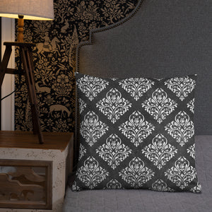 Dark Victorian Geometric Cushion