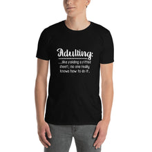 Load image into Gallery viewer, Folding a Fitted Sheet Unisex T-Shirt