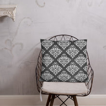 Load image into Gallery viewer, Dark Victorian Geometric Cushion