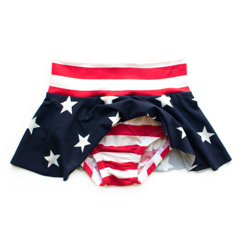 Stars and Stripes Skirted Bloomer