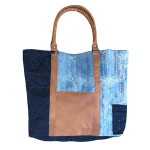 Finley Leather Front Tote