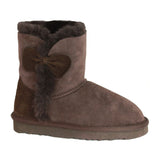 Children's Sheepskin Bow Boot