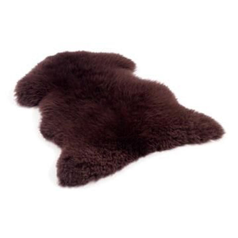 Coloured Single Sheepskin Rug With Backing Fabric