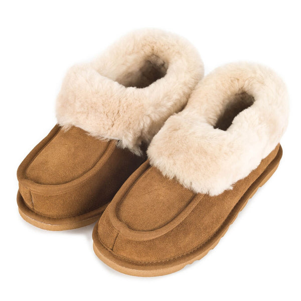 ECL949 Ladies Sheepskin Lined Slipper Boot