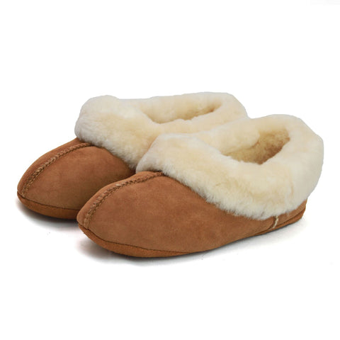 ECL969 Ladies Sheepskin Turn Slipper
