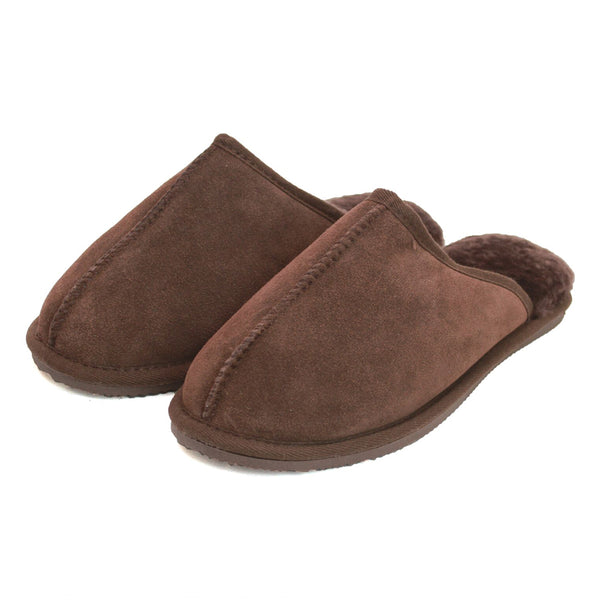 Unisex Sheepskin Lined Slipper Mule